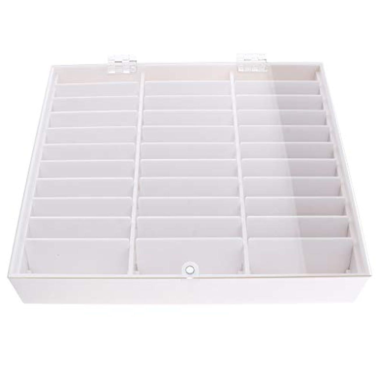 グローアスペクト学ぶネイルアート パーツ ネイルチップ 収納ボックス ディスプレイ ケース アクリル 全2色 - 白