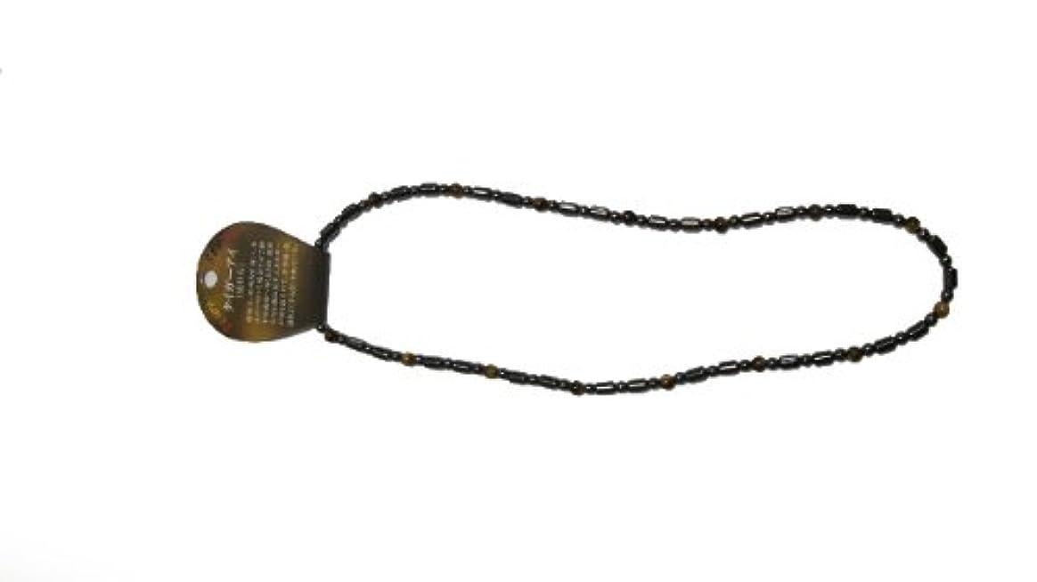 豪華なも一方、磁気ヘマタイト円柱型ネックレス タイガーアイ