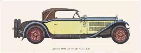 1931年にオーストリア・ダイムラー - アーカイブ紙上のファインアートプリント - 小 : 30 cms X 11 cms