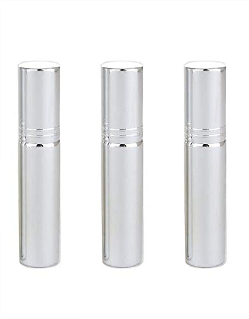 医師ポンドできるアトマイザー グラスアトマイザー 香水ボトル スプレーボトル 詰め替え容器 旅行 漏れ防止 (銀メッキ)