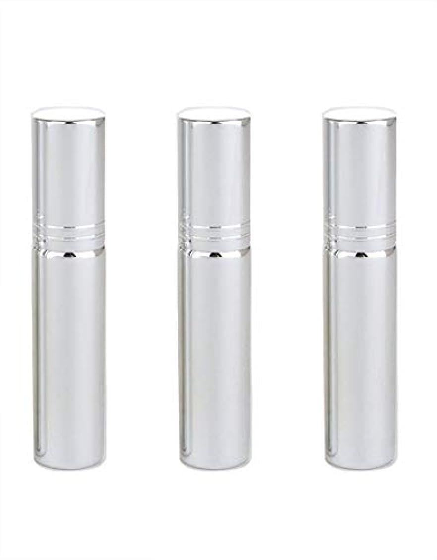 グレートオーク保証する革命アトマイザー グラスアトマイザー 香水ボトル スプレーボトル 詰め替え容器 旅行 漏れ防止 (銀メッキ)