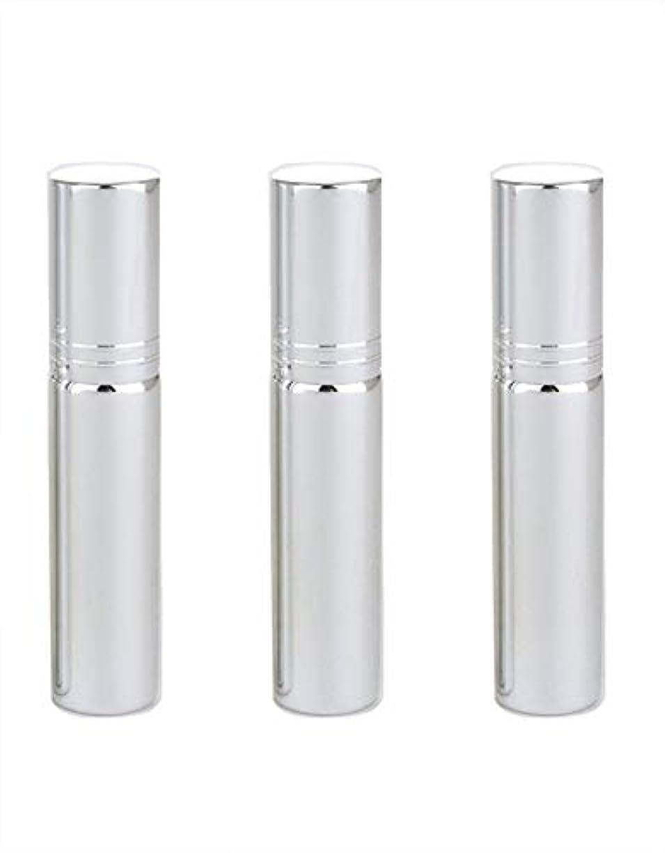 草ために誠実アトマイザー グラスアトマイザー 香水ボトル スプレーボトル 詰め替え容器 旅行 漏れ防止 (銀メッキ)