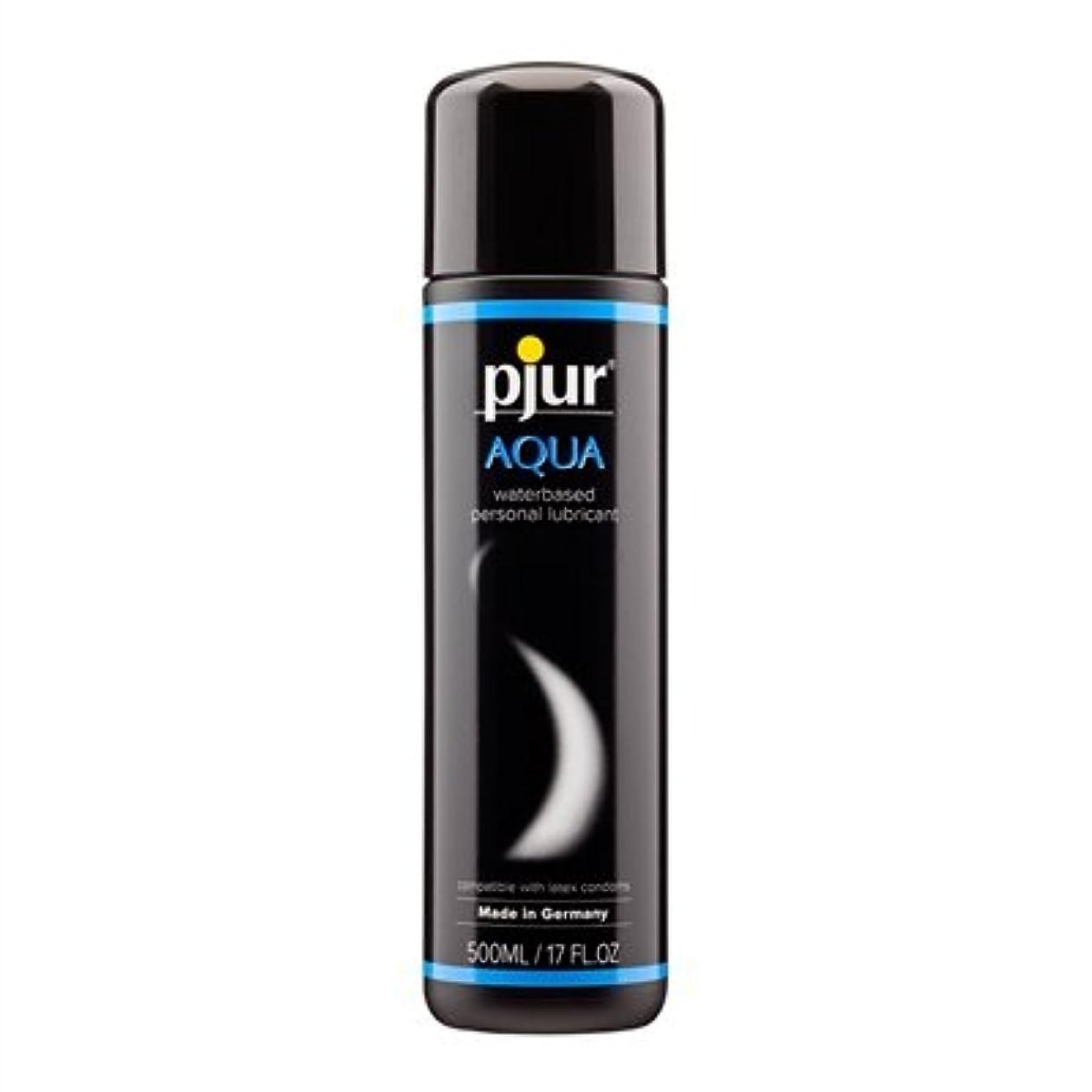 無効特殊混雑Pjur Aqua Bottle Lubricant- 500ml