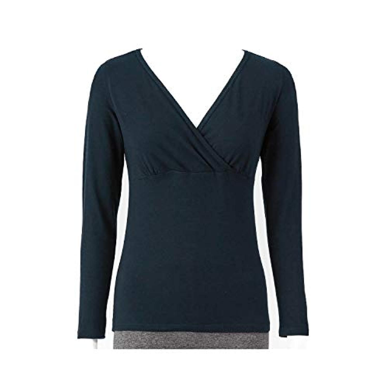 [ベルメゾン] あったか インナー 産後用 おしり すっぽり クロスオープン 長袖 ブラック サイズ:L