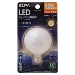ELPA LED装飾電球 ミニボール球形 E17 G50 電球色 LDG1L-G-E17-G261