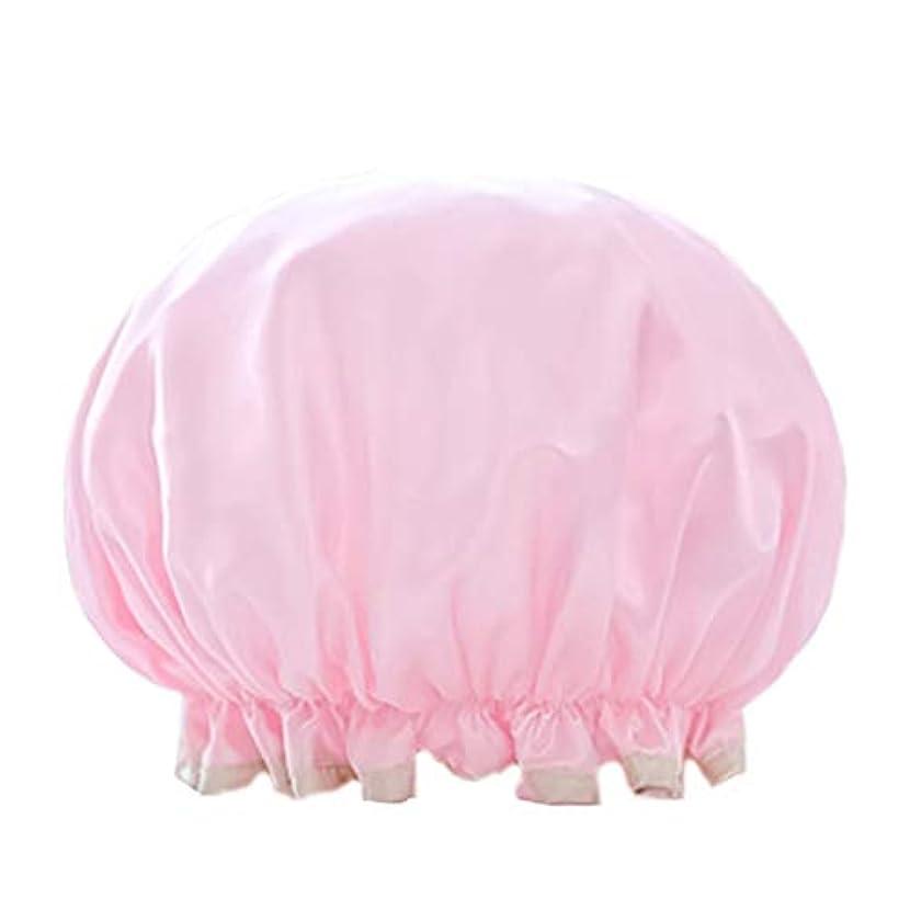 オーディション端意味Maltose 防水シャワーキャップ 女性の弾性の防水入浴シャワーキャップ 浴用帽子 入浴キャップ シャワー用に ヘアキャップ 再使用可能なサロンの髪を保護する帽子 2枚セット