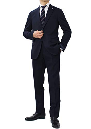 LARDINI ラルディーニ JQ0823AQ ウール ストレッチ 3釦 段返り ワンプリーツ スーツ
