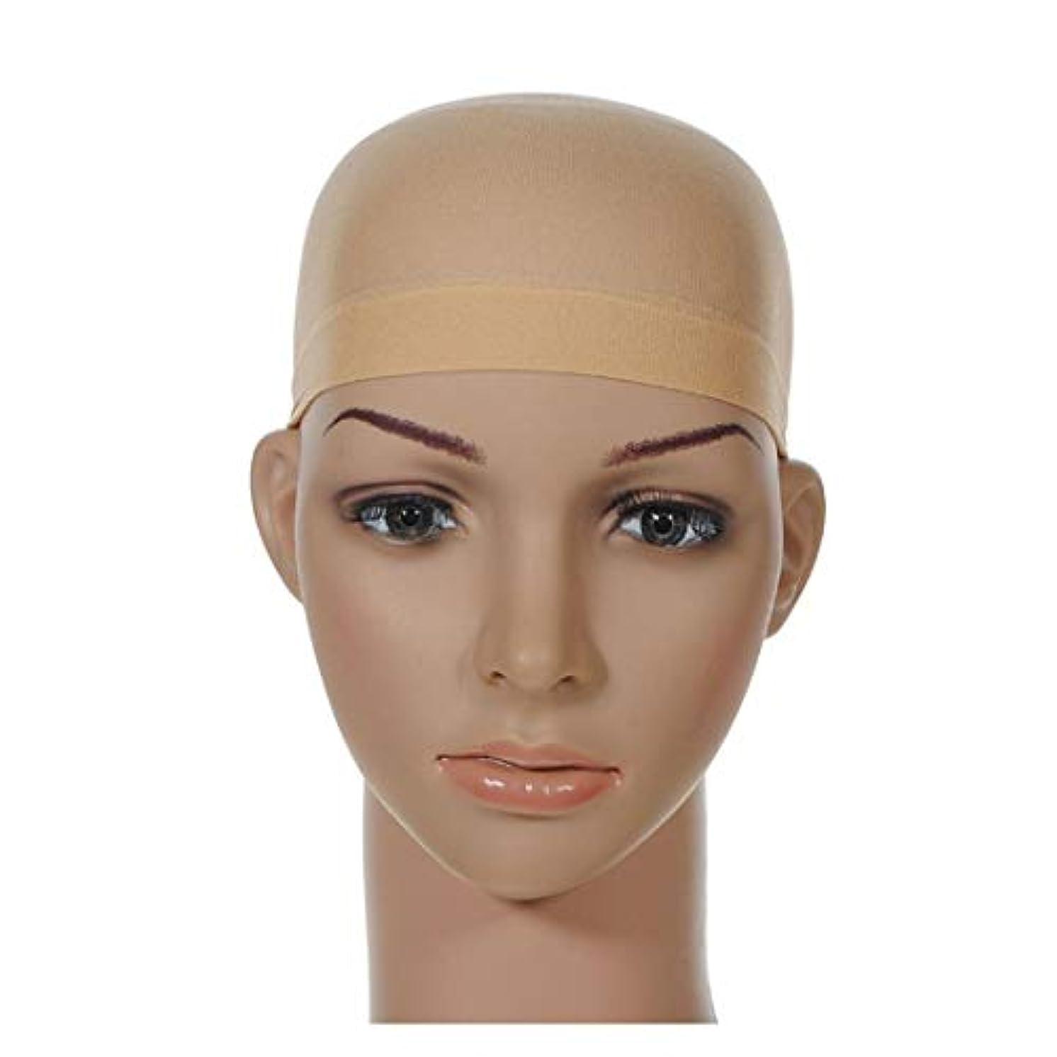 告発者改修する魅力女性のための新しい高弾性ストッキングウィッグキャップメッシュナチュラルヌード&ブラックウィッグキャップ ヘアケア (色 : B-flesh)