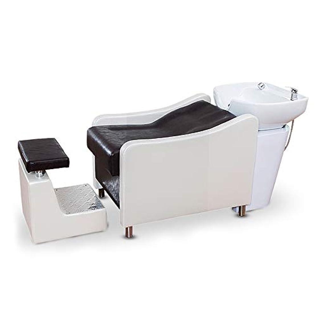 虚栄心姿勢肌寒いシャンプーチェア、洗顔ユニットシャンプーボウル理髪シンクチェア、スパエステサロン設備(ホワイト)