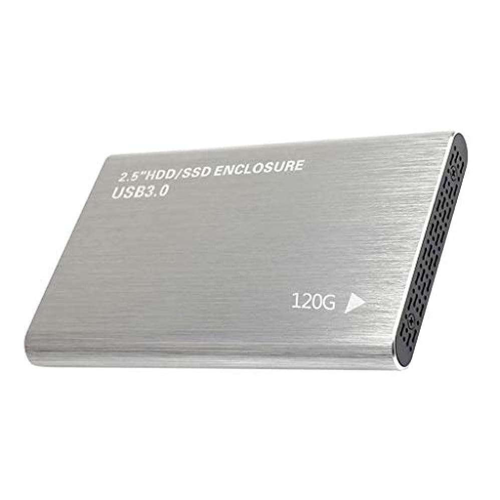 リーチ勉強するホイッスル外付ハードドライブ USB3.0 SATA III HDDエンクロージャケース アルミ合金 6Gbps ポータブル - 120GB