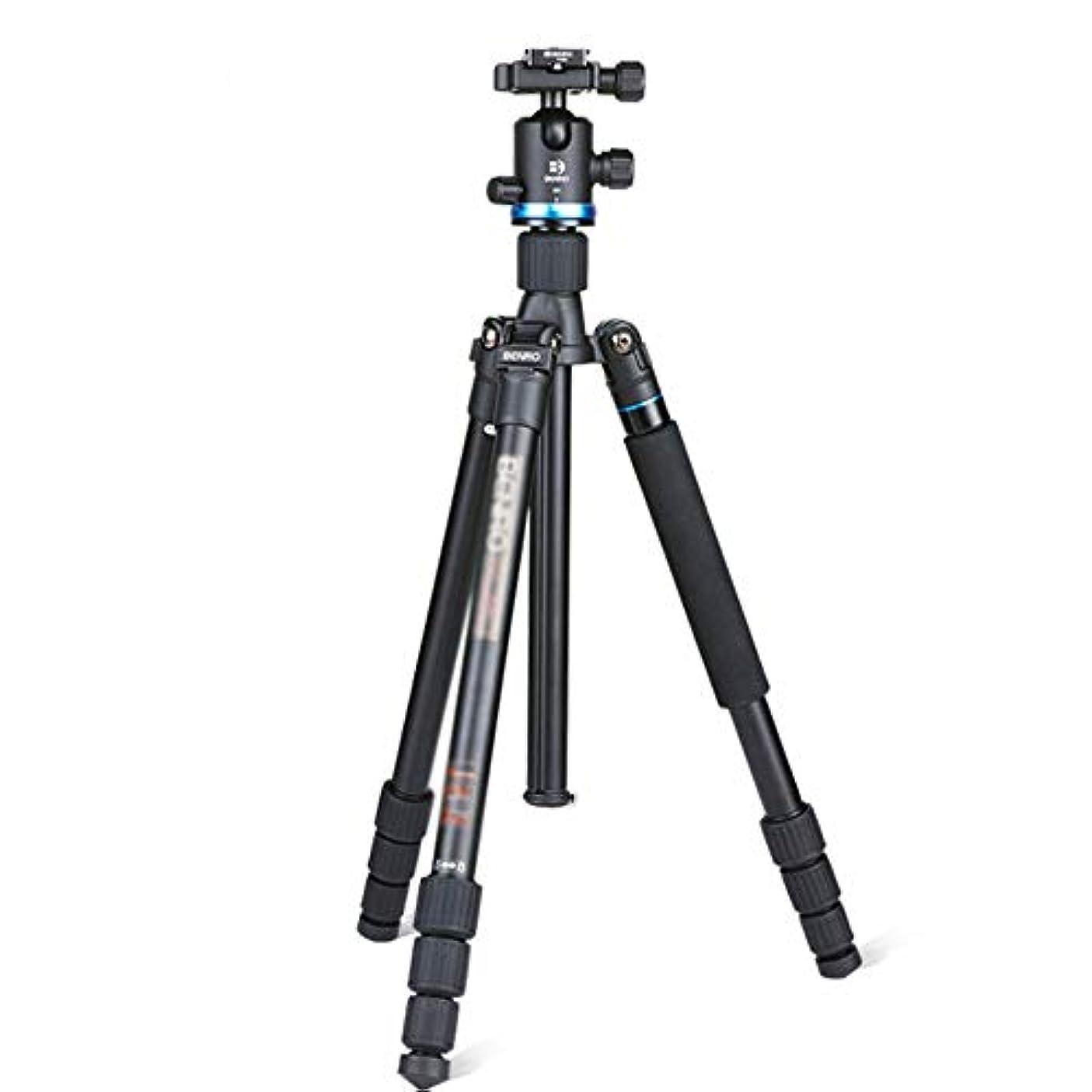 鉛古風なうがい薬カメラ三脚 モバイルデジタル一眼レフカメラの旅行と作業に適しポータブル三脚、三脚旅行アウトドアコンパクトカメラの三脚一脚、 旅行用 持ち運びに便利 (Color : Black, Size : One size)