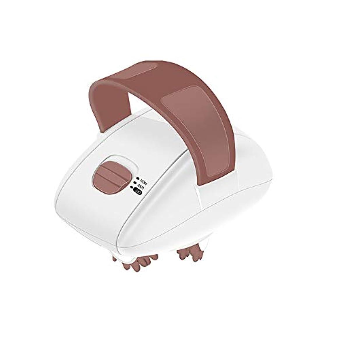 かける蜜浴室3d 電気顔のマッサージの顔スリムマッサージローラーハンドヘルド顔リフティング脂肪燃焼体抗セルライトマシン重量を失う,Brown