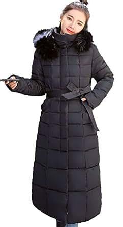 ダウンコート ロング ダウンジャケット ロングダウンコート レディース 中棉 フード付き 軽量 防寒 (M, ブラック-4)
