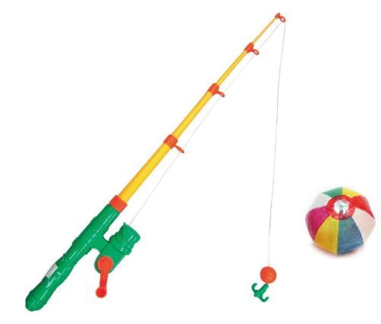 イベント用 釣竿 (つりざお) マグネット式 (2本セット)  / お楽しみグッズ(紙風船)付きセット