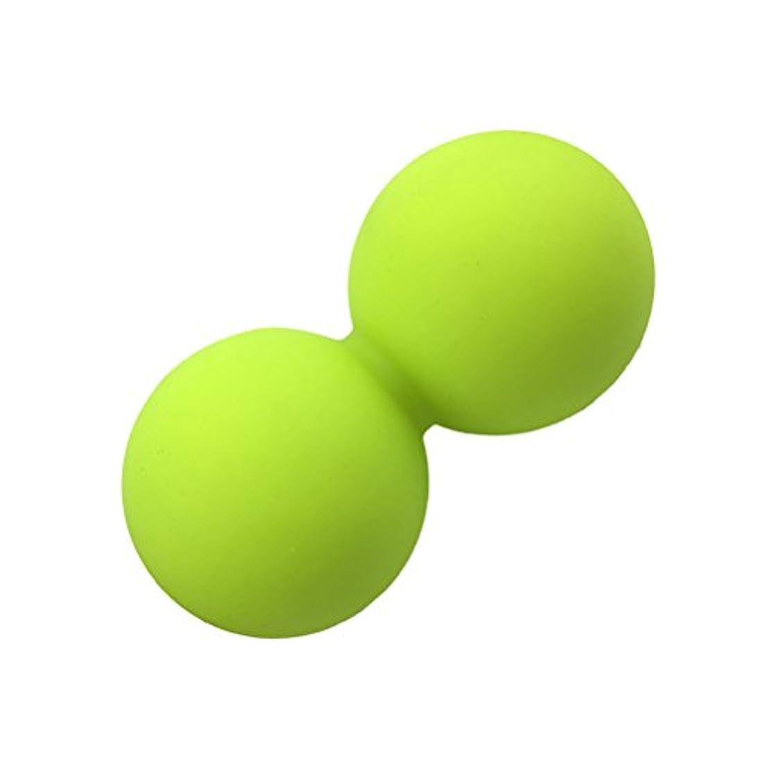 拘束する開梱オークROSENICE ピーナッツマッサージボールヨガマッサージボールマッサージボールローラー(ブリリアントグリーン)