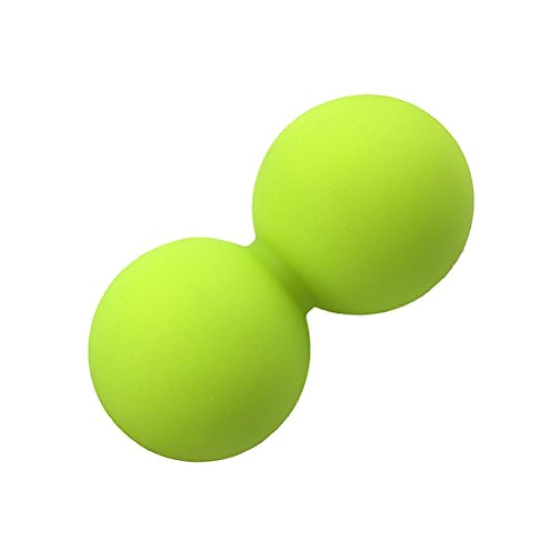誠意湿度リフレッシュROSENICE ピーナッツマッサージボールヨガマッサージボールマッサージボールローラー(ブリリアントグリーン)