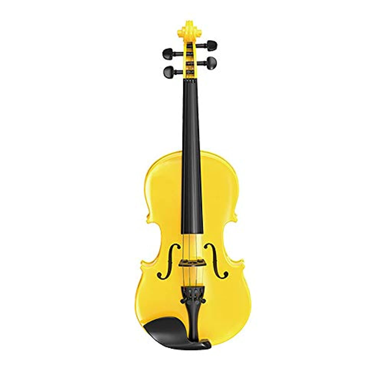 Langba バイオリン バイオリン玩具 調整可能 楽器演奏 知育教育 趣味 楽器 初心者 子供用 プラスチック製  誕生日プレゼント