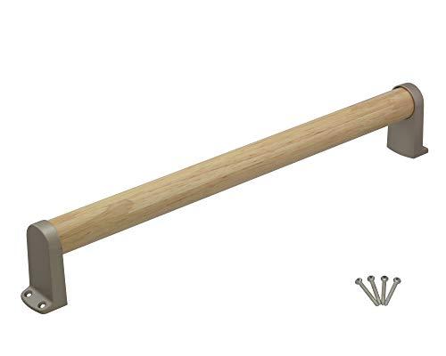 TQOOL 安全 安心 屋内用 木製手すり タテ ヨコ兼用 450mm 32パイ 耐荷重:80Kg 97253