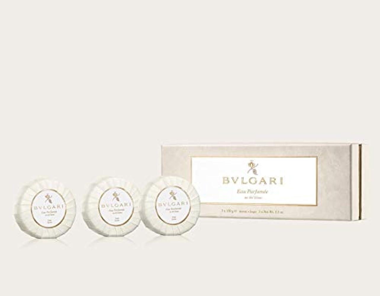 むちゃくちゃ急速な思春期の[正規品]ブルガリ オ パフメ オーデブラン ソープ ギフトセット 150g × 3個 正規品