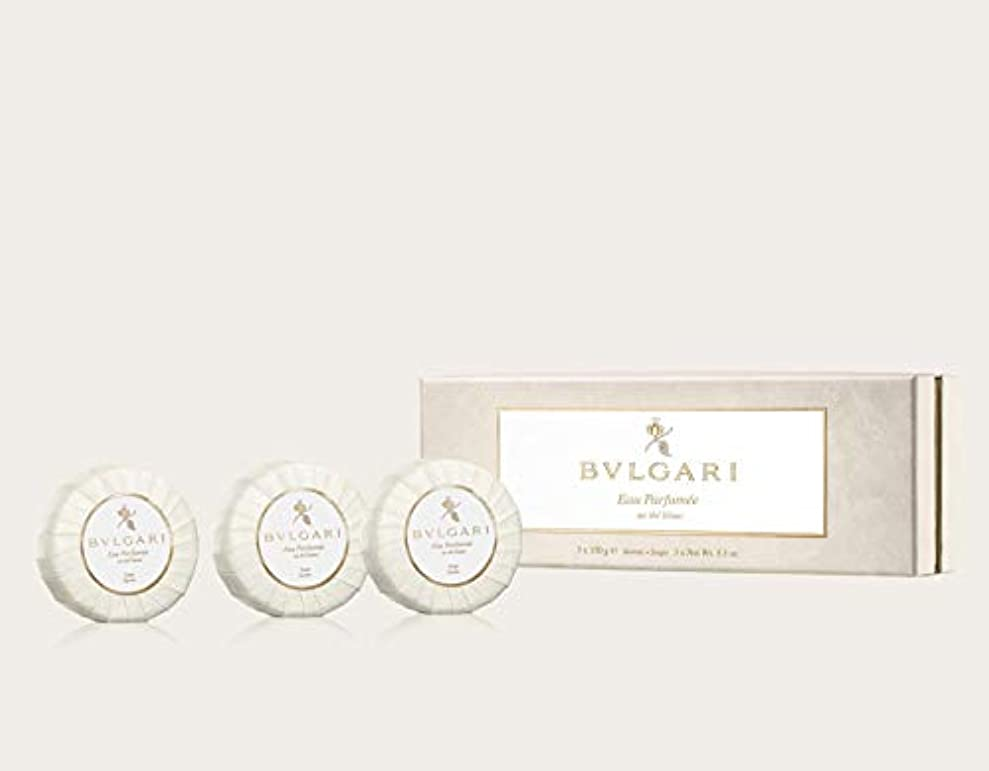 松カフェテリア便利さ[正規品]ブルガリ オ パフメ オーデブラン ソープ ギフトセット 150g × 3個 正規品