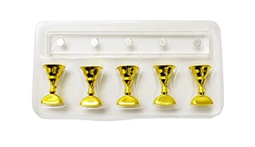ニッケルトロピカルケント長方形クリスタルチップスタンド 5本ジグセット (ゴールド)