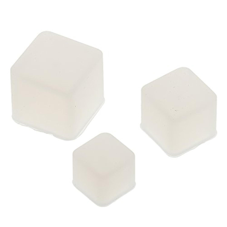 Fityle 3個入り セット DIY 金型 ジュエリーツール シリコーン ペンダント 正方形 高品質