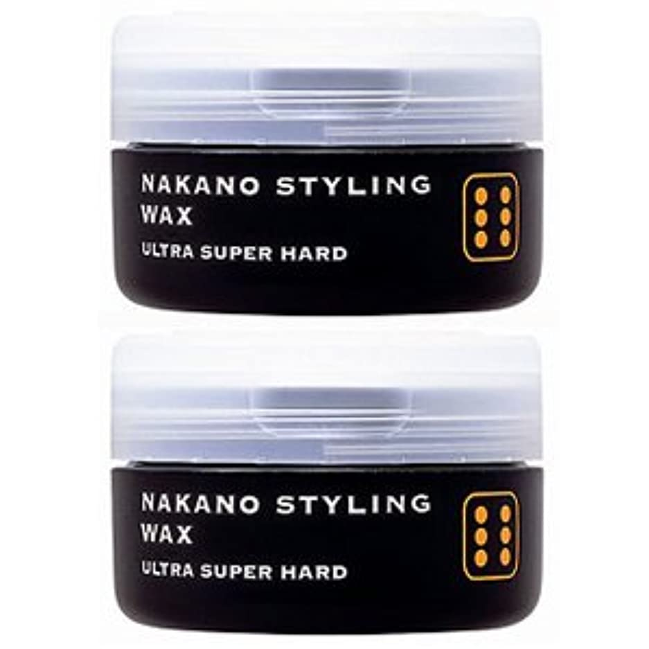 泣く首相喉が渇いたナカノ スタイリングワックス 6 ウルトラスーパーハード 90g 『2個セット』