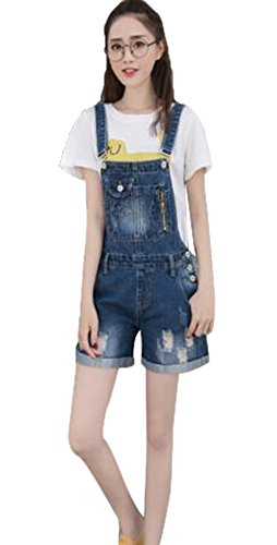 cf4cff6c7519 (Gudoko) summer overalls denim shorts overalls Women's all-in-one jeans  large size