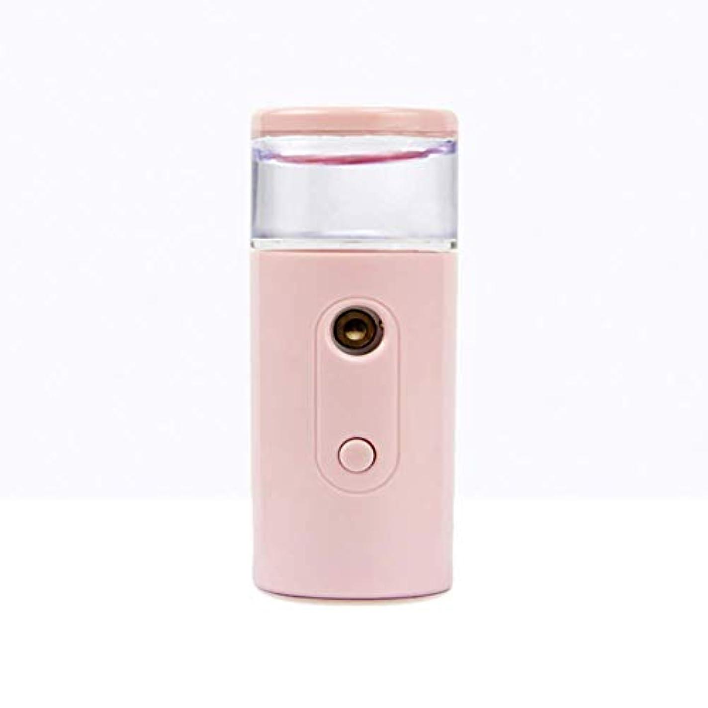 表向き頂点ズームインするNano Facial Mister、30ml視覚的水タンクを備えた充電式フェイシャルスチーマー、スキンケア、旅行用保湿&保湿
