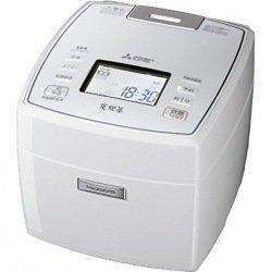 三菱電機 IHジャー炊飯器 備長炭炭炊釜 5.5合炊き ピュアホワイト NJ-VX107-W