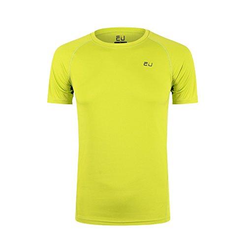 Tシャツ メンズ 半袖 無地 スポーツ シャツ 通気 速乾 吸汗 防臭 UVカット フルーツグリーン S
