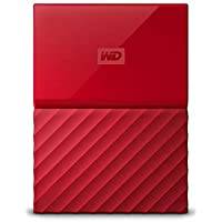 WD HDD ポータブル ハードディスク 2TB USB3.0 レッド 暗号化 パスワード保護 3年保証 My Passport WDBS4B0020BRD-WESN