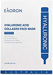 Eaoron Hyaluronic Acid Collagen Face Mask 5 Piece Pack, 5 count Pack of 5