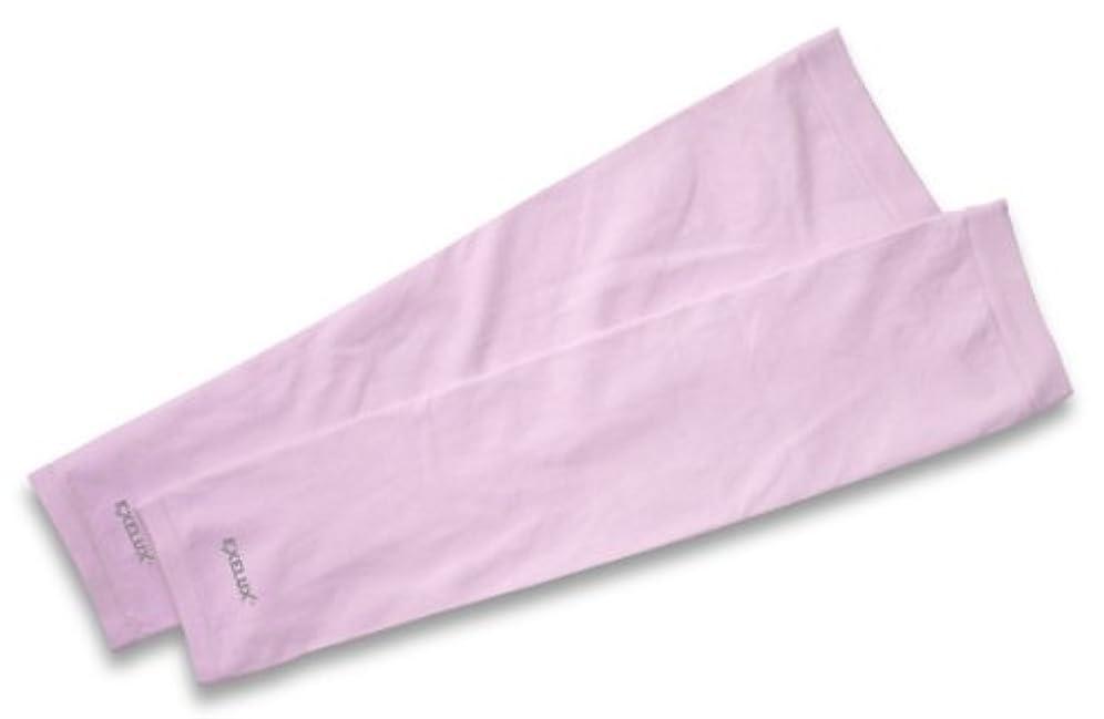 狂気液化する時々EXELUX UVカットアームスリーブ ピンク
