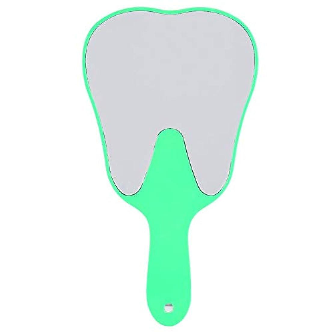 どうやら滅多くつろぐ歯鏡 おしゃれな便利なかわいいプラスチックハンドル 歯科ケアハンドミラーツール (3#)