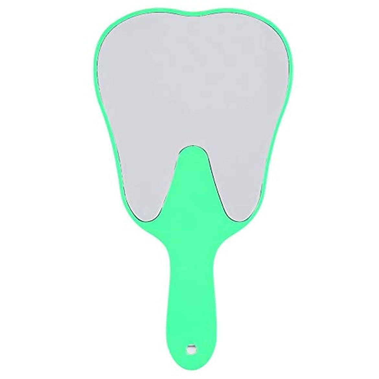 歯鏡 おしゃれな便利なかわいいプラスチックハンドル 歯科ケアハンドミラーツール (3#)