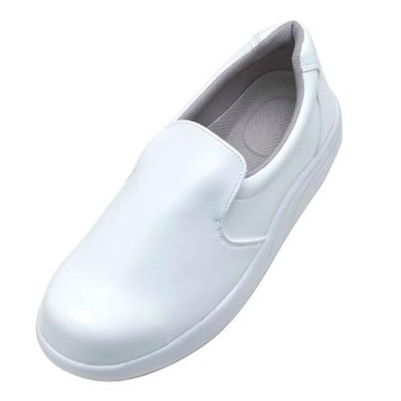 弘進ゴム/シェフメイトセーフティー α-300/安全作業靴 スリッポン サイズ:23.0cm カラー:白