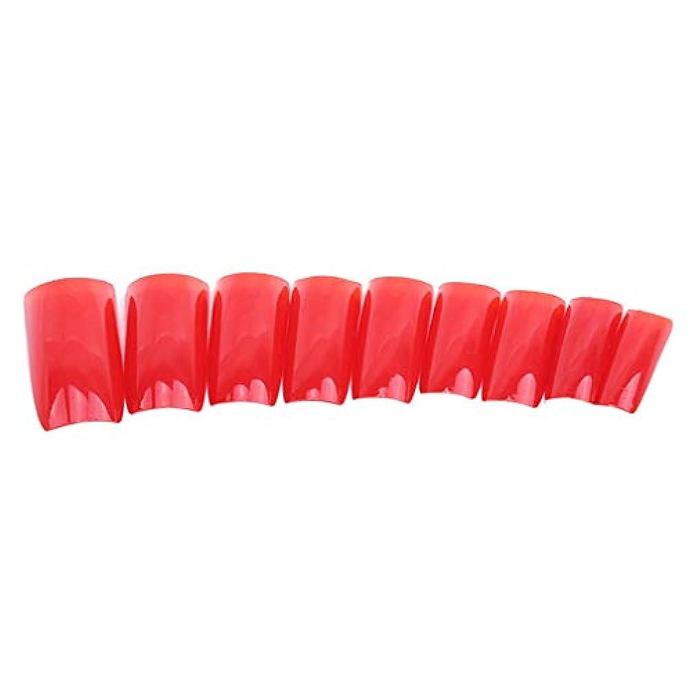 ピボットハッチ雑多な火の色 ネイルチップ ネイルケアツール 短い爪 つけ爪 シンプル ネイルアート 結婚式 パーティー 二次会 赤色