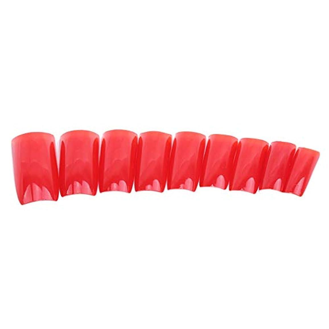 系統的ペア散る火の色 ネイルチップ ネイルケアツール 短い爪 つけ爪 シンプル ネイルアート 結婚式 パーティー 二次会 赤色