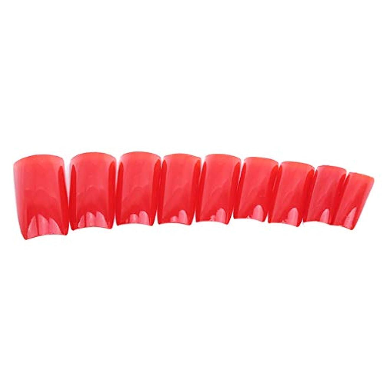 壁教育学から火の色 ネイルチップ ネイルケアツール 短い爪 つけ爪 シンプル ネイルアート 結婚式 パーティー 二次会 赤色