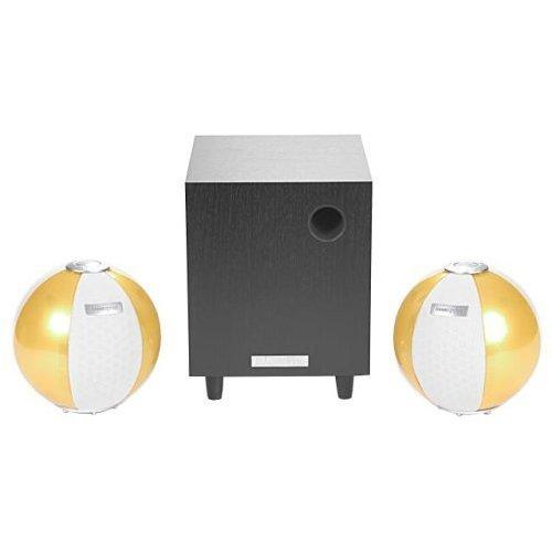 HANNspree Circus 2.1 Channel Speaker System - Yellow (KS05-21U1-002) [並行輸入品]