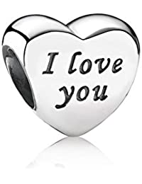 PANDORA Charm Love Word Sterling Valentine's Day Mother's Day Gift