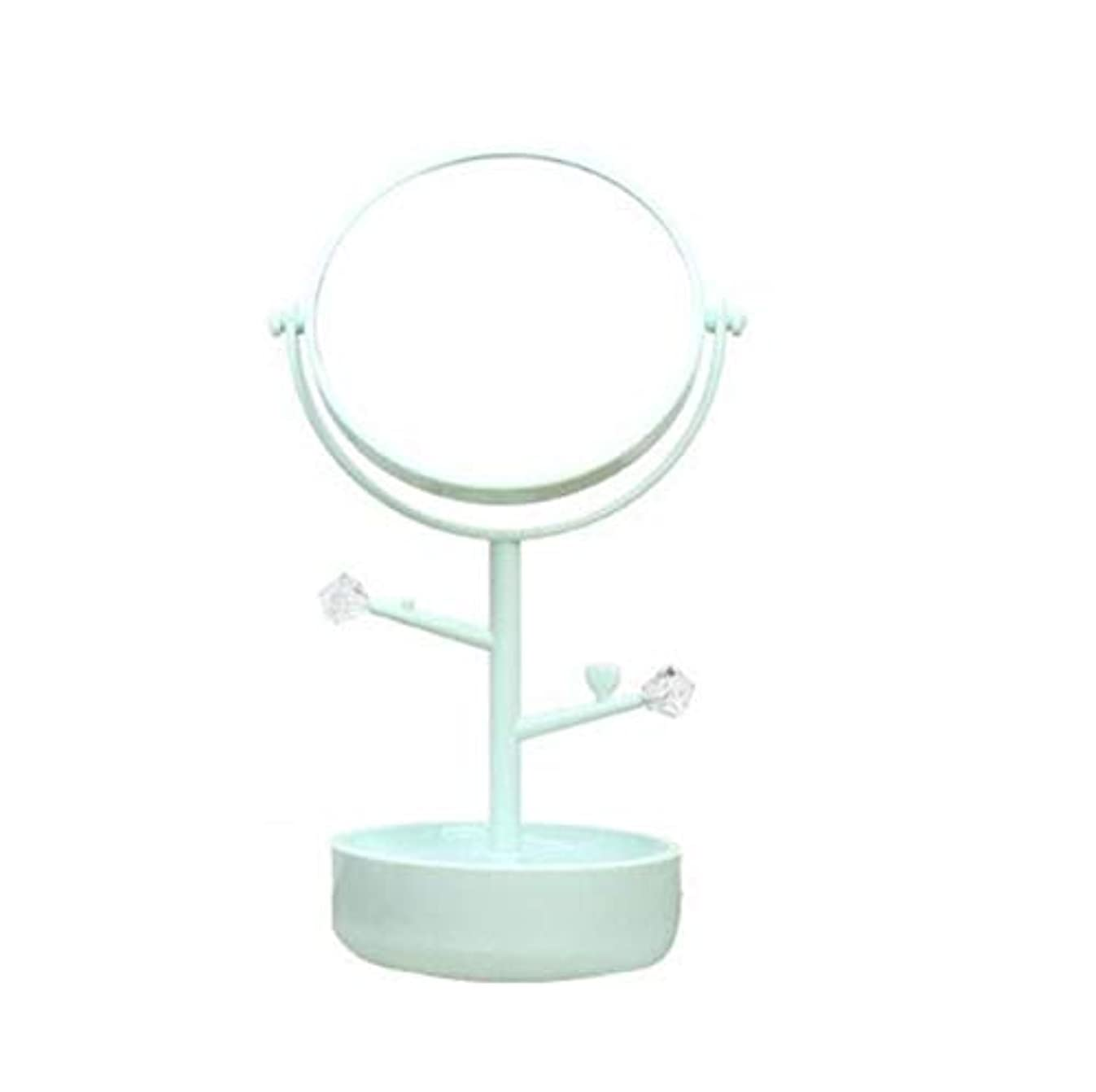 おもてなしバイナリ電気陽性化粧鏡、グリーン多機能収納両面化粧鏡化粧ギフト