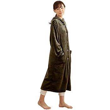mofua ( モフア ) 着る毛布 プレミアムマイクロファイバー ルームウェア フード付き 着丈110cm モスグリーン 48476494