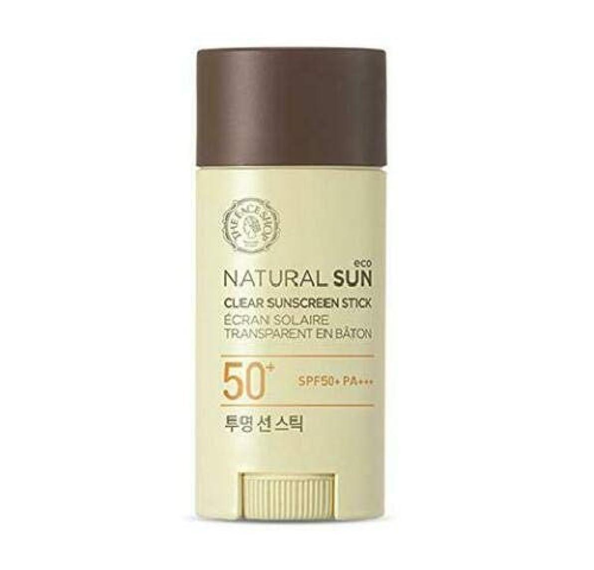 アプローチ転送加入ザフェイスショップ(The Face Shop) Natural Eco Sun Clear Sunscreen Stick サンスティック (13.5g) SPF50+ PA+++