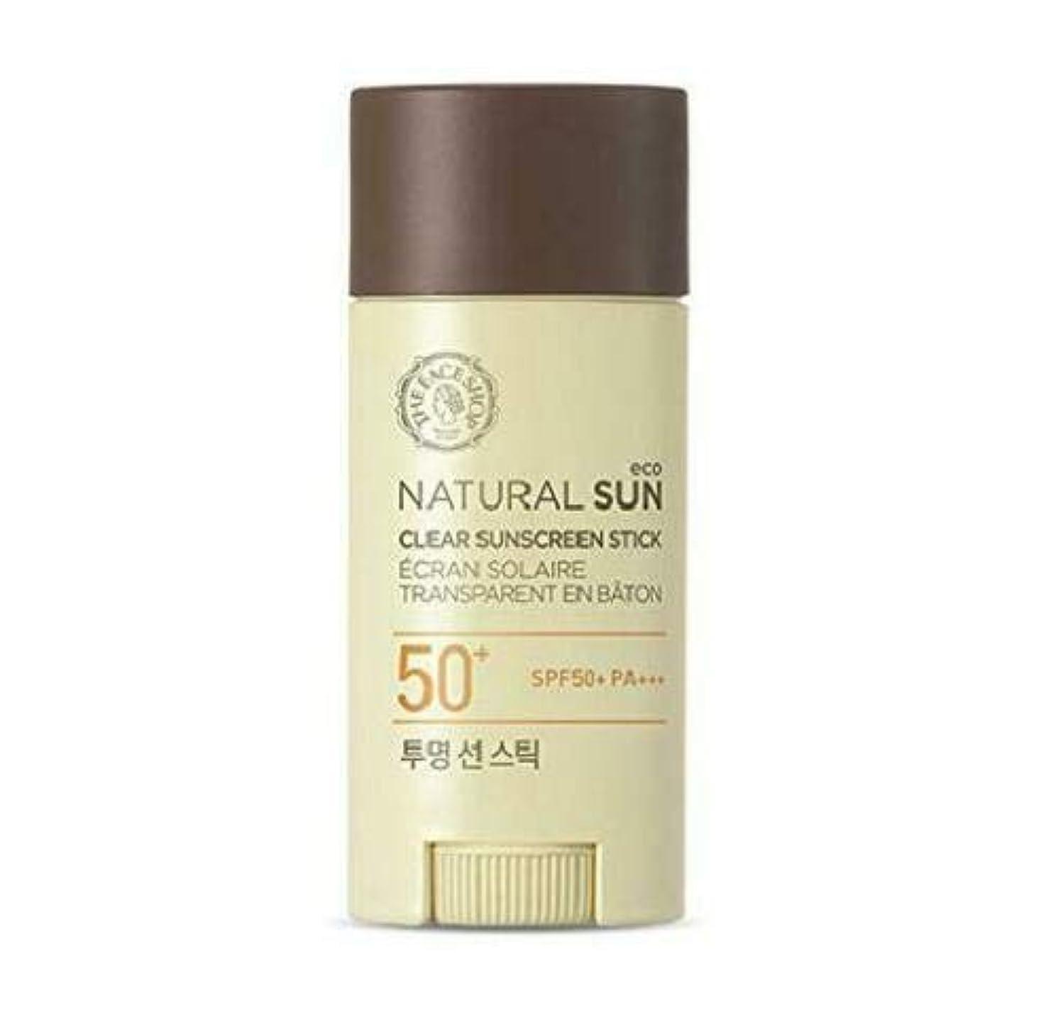 生産性見捨てられたコミュニティザフェイスショップ(The Face Shop) Natural Eco Sun Clear Sunscreen Stick サンスティック (13.5g) SPF50+ PA+++
