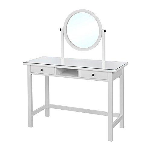 HEMNES ドレッシングテーブル ミラー付き ホワイト