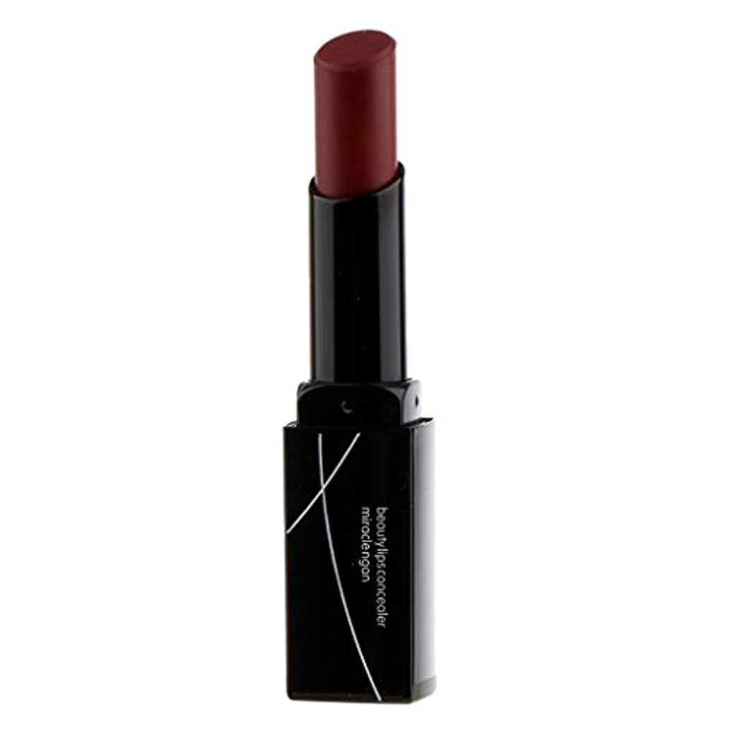 シガレット工業用ブッシュ女性マットベルベットヌード鉛筆口紅リップグロス防水永続的なメイク - 暗赤色