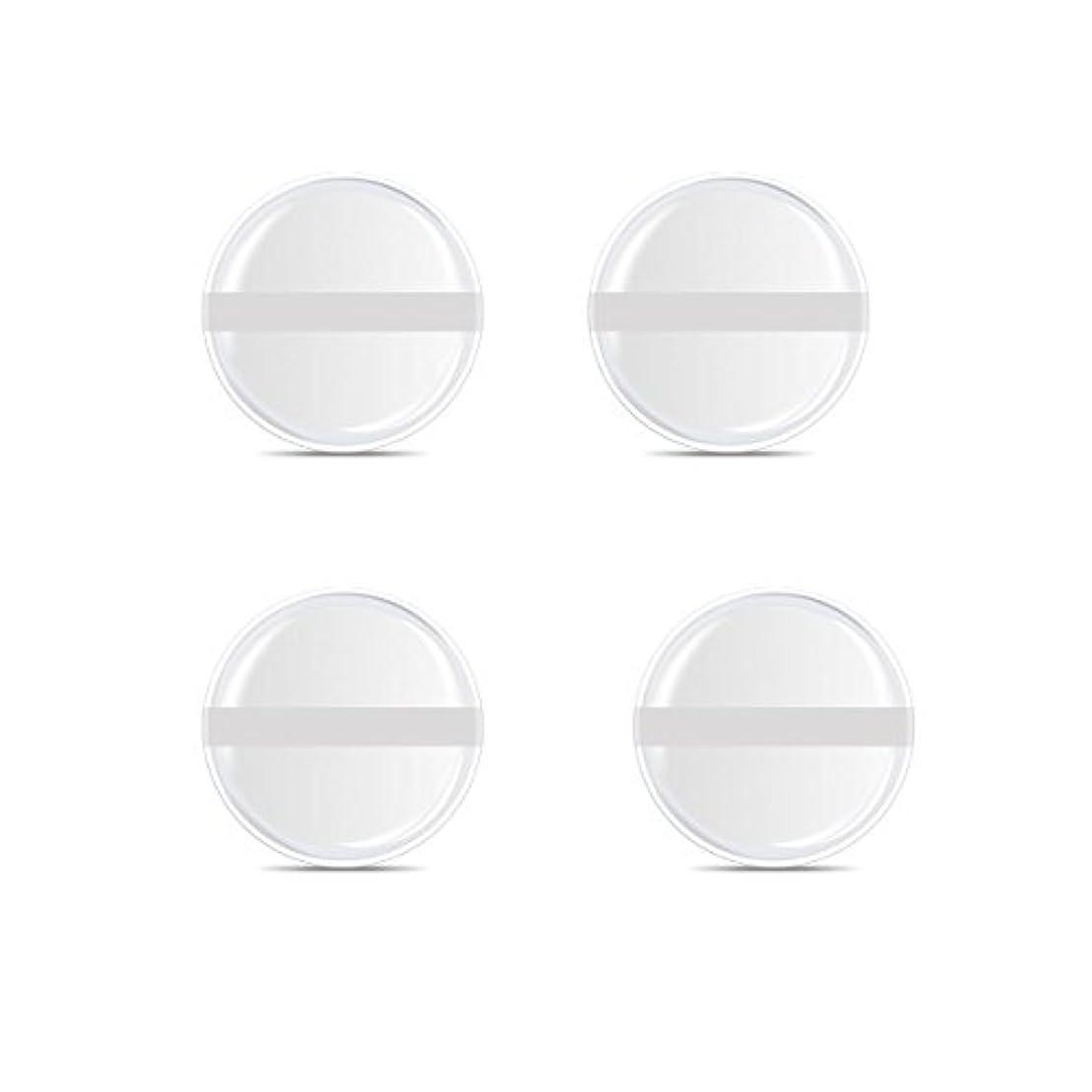 機密避けられない管理シリコンパフ 帯付き メイクスポンジ ゲルパフ ゼリーパフ 清潔しやすい衛生 柔らかく 透明な 4枚入 (円形 4入り)