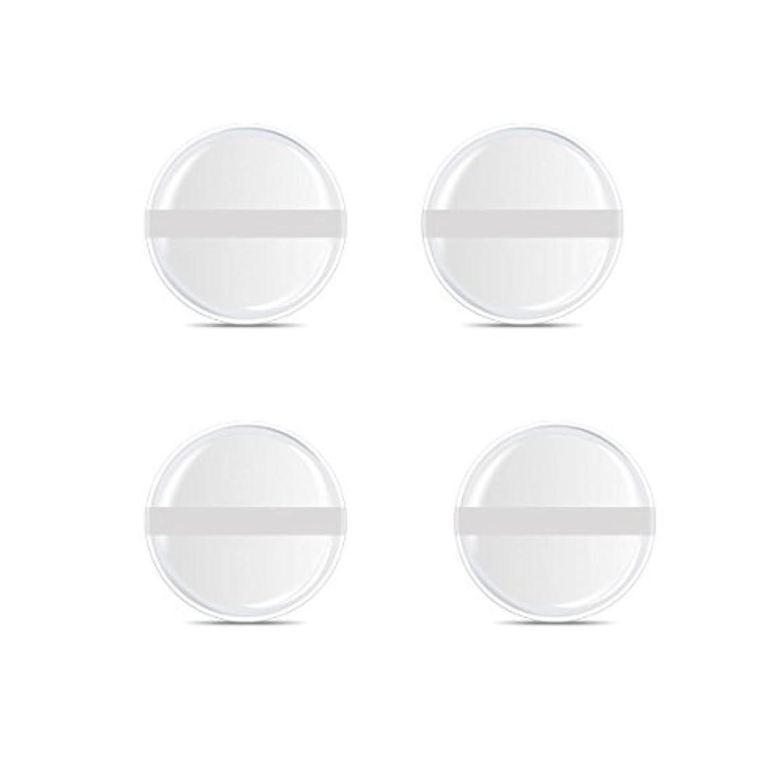 完了放置前方へシリコンパフ 帯付き メイクスポンジ ゲルパフ ゼリーパフ 清潔しやすい衛生 柔らかく 透明な 4枚入 (円形 4入り)